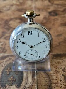 schöne 800 Silber Zenith Taschenuhr mit 15 Rubine Uhrwerk läuft zu schnell