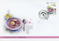Lithuania Gastronomy Stamps 2020 FDC Cold Pink Lithuanian Soup Cultures 1v Set