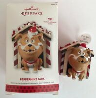 New Magic 2013 HALLMARK Keepsake PEPPERMINT BARK Bulldog Tree Ornament