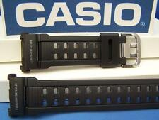 Casio Watch Band GW-9000 Mudman Mud Resist Black Rubber G-Shock Watchband -Strap