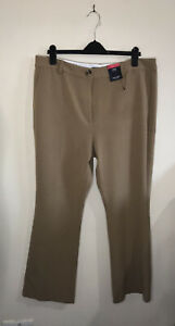 M&S Collection Trouser Coffee /  Beige Side Pockets Reg Size 18 NWT