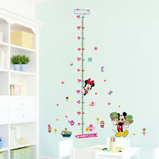 Mickey Minnie Mouse Height Chart Wall Stickers Vinyl Decal Girl Nursery Decor