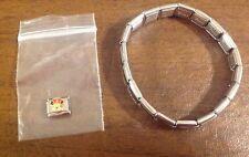 Fascino Veneziano Italian Stretch Charm Bracelet W Disney Enamel Minnie charm