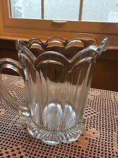 Vintage Heavy Clear Glass Pitcher