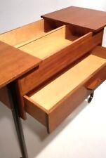 Vintage Nähkasten 50er 60er Danish Modern Sewing Box Mid Century Nierentisch ERA
