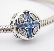 WINTER SNOWFLAKE CHARM Bead Sterling Silver .925 For European Bracelet 541
