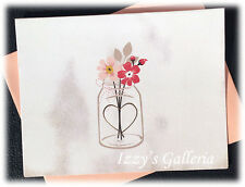 ONE My Mind's Eye Flowers In A Vase Gold Foil Heart Mother's Day Blank Note Card