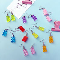 Fashion Multicolor Resin Bear Drop Dangle Women Earrings Statement Jewelry G MW