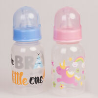 2pcs Dummy Blue Pink Feeding Bottle For Reborn Baby Twins Doll Accessories Toy