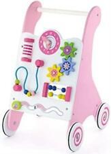 Wooden Push Along Baby Walker - Pink