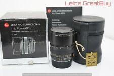 Leica APO-SUMMICRON-M 75mm F/2 Asphärisch Linse 6 Bit Codiert Verpackt #3986059