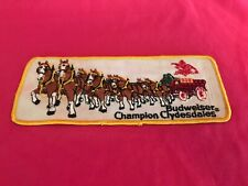 Vintage Budweiser Champion Clydesdales Patch Beer Wagon