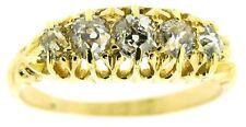 Ladies 18Carat 18ct yellow gold diamond 5 stone half eternity rings size L1/2