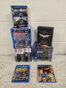 40 x Superhero Bluray DVD Job Lot- Marvel DC Hellboy Thor Deadpool Batman Green