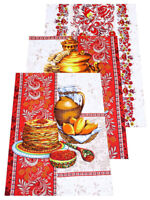Kitchen Towels Set of 3 Made Russia Cotton Dish Towels Russian Style Dishcloth