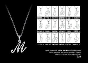 Avon Shar Sterling Silver Diamond Neckace - Initial J - BNIB