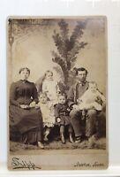 Antique Cabinet Photo B.T. Dutton & Family 4 Children Victorian Era Kansas 1880s