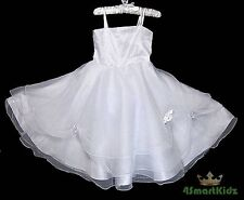50% OFF SALE White Holiday Wedding Flower Girl flowergirl Party Dress Up Size 4