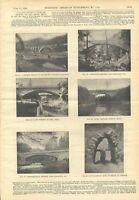 1898 Stone Arch Bridge Engineering Antique Engravings Scientific American Old