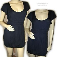 21 New Navy Blue Cap Sleeve Mini Sheath Dress Womens Short Cute Sexy Dresses M