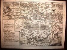 CASSANO D'ADDA,TREVIGLIO,acquaforte originale 1730.LOMBARDIA