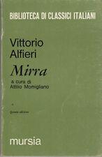 LETTERATURA ITALIANA ALFIERI VITTORIO MIRRA 1970 LIBRO MURSIA