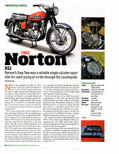 1962 NORTON ES2 MOTORCYCLE  ~  VERY NICE SINGLE-PAGE ARTICLE / AD