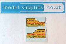 Matchbox 13C Ford Thames Recovery Reproduction Waterslide Transfers Set