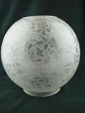 Antico Design foliate completamente scolpite GLASS Globe Duplex OLIO paralume