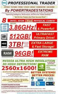 DELL Trading Computer 6Monitor XeonMaxTurbo3.86GHz! 512SSD 3TBHDD 96RAM! DESKTOP