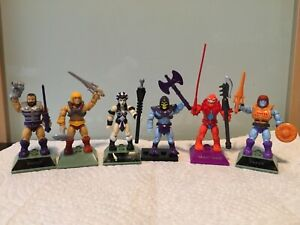 Mega construx masters of the universe MOTU lot Fisto He-Man Skeletor Evil Lyn +