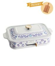 BRUNO Compact Electric Griddle Hot Plate Blue Print Cooking Japan EMS NEW
