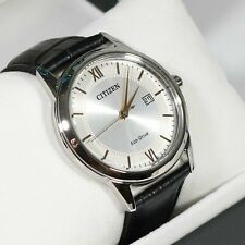 Citizen Eco Silver Dial Gold Accents Men's Watch AW1236-11A