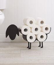 Black Decorative Sheep Toilet Paper Holder Free-Standing Bathroom Tissue Storage
