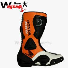 Honda Repsol Motorbike Boot Racing MotoGP Motorbike Real Leather Rider Shoes