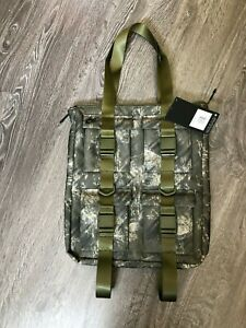 Nike Pocket Tote Laptop Bag Realtree Olive Camo Black Canvas $100 NEW BA6378-395