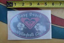 ROXY Beach Volleyball Club Girls Quicksilver Hawaii Flower Aloha Surfing STICKER
