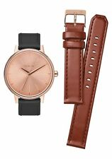 **BRAND NEW** NIXON KENSINGTON LEATHER PACK ROSE GOLD / SADDLE / BLACK A11902780