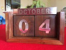 Wooden Perpetual Desk Calendar, unused in box