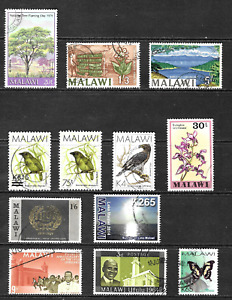 Malawi .. A collection of used stamps from Malawi .. 4124