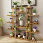 Tier Ladder Shelf Brown Wooden Plant Stand Garden House Corner Flower Rack Stand