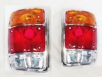 FOR NISSAN DATSUN 1200 UTE 78-85 TAIL LIGHT WITH CHROME RIM - PAIR (LH + RH)