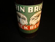 Circa 1940s Erin Brew Bock Labeled Bottle w/Neck, Standard Brewing, Cleveland,Oh