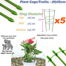 [5x] Tree Vine Flowers Orchid Trellis Plants Support Cage 45CM Height Anti-Rust