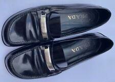 Prada Leather Loafers Black Women's Size 38 1/2