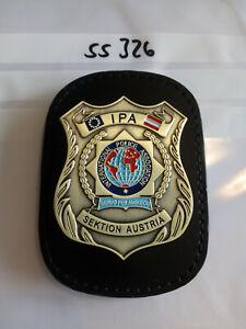 Polizei IPA Marke Österreich Austria Sektion auf Lederklip 1 Stück (ss326)