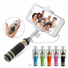 Mini Handheld Self Selfie Stick Wired Extendable For Iphone Android Mobile Phone