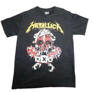 Metallica Reo Rock Of The T-Shirts Label Men's Black T-Shirt Size M