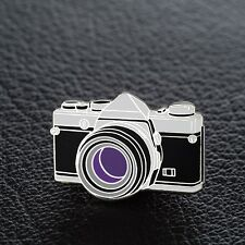 Olympus OM SLR 35mm Camera Enamel Pin - Silver