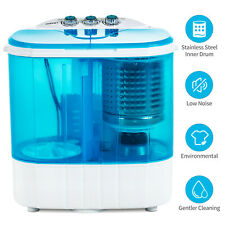 10 LBS Portable Mini Wash Machine Compact Twin Tub Washer Spinning & Dryer Blue